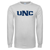 White Long Sleeve T Shirt-UNC