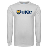 White Long Sleeve T Shirt-UNC Bears