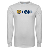White Long Sleeve T Shirt-UNC University of Northern Colorado