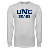 White Long Sleeve T Shirt-UNC Bears Collegiate