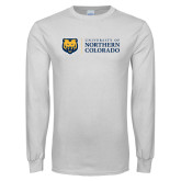 White Long Sleeve T Shirt-University of Northern Colorado Academic Horizontal