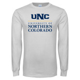 White Long Sleeve T Shirt-UNC Academic Block