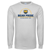 White Long Sleeve T Shirt-Bear Pride