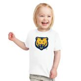 Toddler White T Shirt-UNC Bear Logo