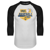 White/Black Raglan Baseball T Shirt-Bears Baseball