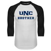 White/Black Raglan Baseball T Shirt-Brother