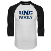 White/Black Raglan Baseball T Shirt-Family