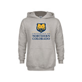 Youth Grey Fleece Hood-University of Northern Colorado Academic Stacked