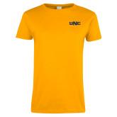 Ladies Gold T Shirt-UNC