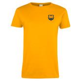 Ladies Gold T Shirt-UNC Bear Logo