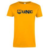 Ladies Gold T Shirt-UNC Bears