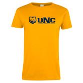 Ladies Gold T Shirt-UNC University of Northern Colorado