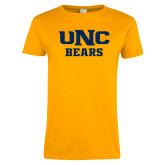 Ladies Gold T Shirt-UNC Bears Collegiate