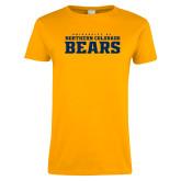 Ladies Gold T Shirt-University of Northern Colorado Bears Collegiate