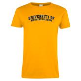 Ladies Gold T Shirt-University of Northern Colorado