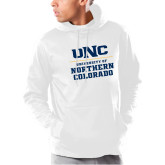Under Armour White Armour Fleece Hoodie-UNC Collegiate Stacked