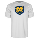 Performance White Tee-UNC Bear Logo