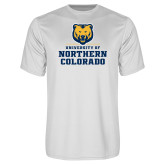 Performance White Tee-Northern Colorado Stacked Logo