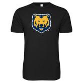 Next Level SoftStyle Black T Shirt-UNC Bear Logo
