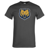 Charcoal T Shirt-Bear Mascot Distressed