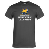 Charcoal T Shirt-Northern Colorado Stacked Logo