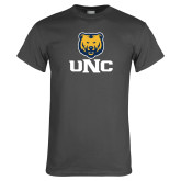 Charcoal T Shirt-UNC Bear Stacked