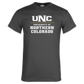 Charcoal T Shirt-UNC Collegiate Stacked