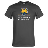 Charcoal T Shirt-University of Northern Colorado Academic Stacked