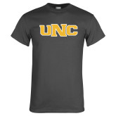 Charcoal T Shirt-UNC Stroked Logo