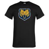 Black T Shirt-Bear Mascot Distressed