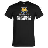 Black T Shirt-Northern Colorado Stacked Logo