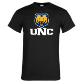 Black T Shirt-UNC Bear Stacked