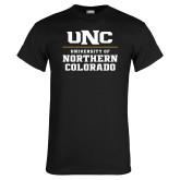 Black T Shirt-UNC Collegiate Stacked