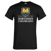 Black T Shirt-University of Northern Colorado Academic Stacked