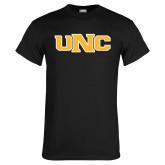 Black T Shirt-UNC Stroked Logo