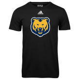 Adidas Climalite Black Ultimate Performance Tee-UNC Bear Logo