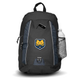 Impulse Black Backpack-UNC Bear Logo