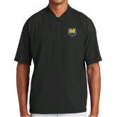 New Era Black Cage Short Sleeve 1/4 Zip-UNC Bear Logo