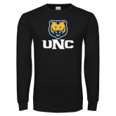 Black Long Sleeve T Shirt-UNC Bear Stacked