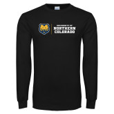 Black Long Sleeve T Shirt-University of Northern Colorado Horizontal