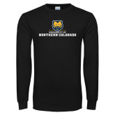 Black Long Sleeve T Shirt-University of Northern Colorado Long Logo