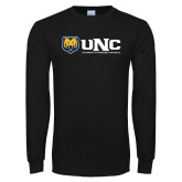 Black Long Sleeve T Shirt-UNC University of Northern Colorado