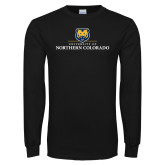 Black Long Sleeve T Shirt-University of Northern Colorado Academic