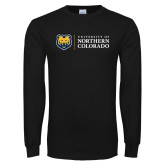 Black Long Sleeve T Shirt-University of Northern Colorado Academic Horizontal