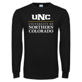 Black Long Sleeve T Shirt-UNC Academic Block