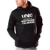 Under Armour Black Armour Fleece Hoodie-UNC Collegiate Stacked