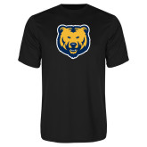 Performance Black Tee-UNC Bear Logo