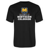 Performance Black Tee-Northern Colorado Stacked Logo