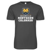 Next Level SoftStyle Charcoal T Shirt-Northern Colorado Stacked Logo