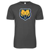 Next Level SoftStyle Charcoal T Shirt-UNC Bear Logo